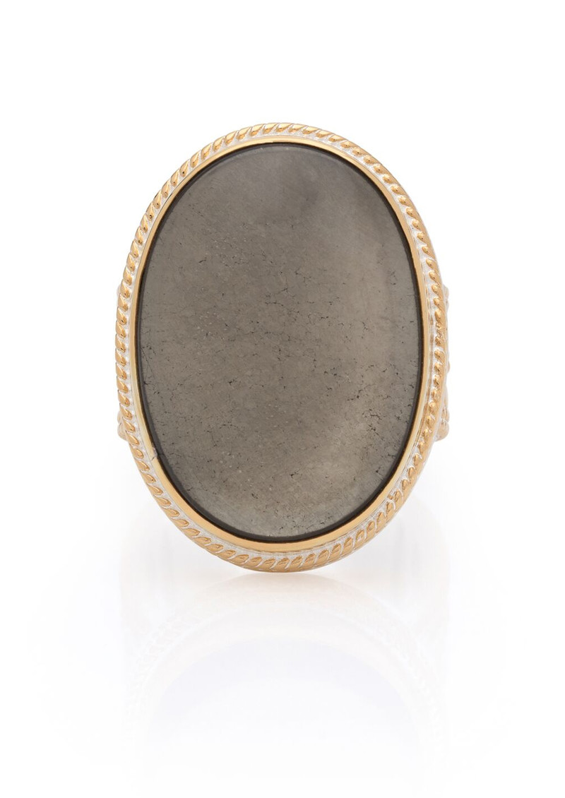 ANNA BECK Mirage Smooth Pyrite Cocktail Ring - Gold main image