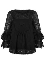 PK BERRY Adele Ruffle Blouse - Black