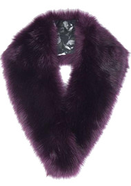 NOOKI Tilly Faux Fur Scarf - Burgundy