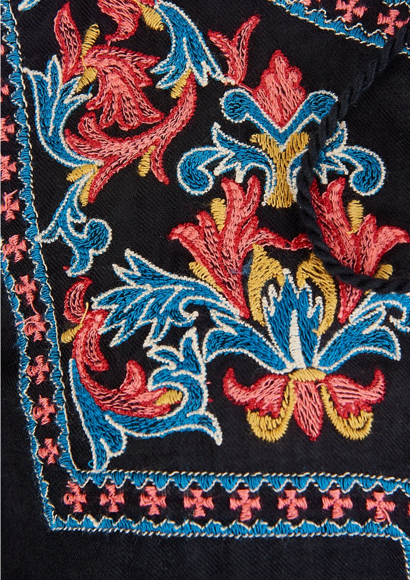 PK BERRY Beatrice Embroidered Blouse - Black main image