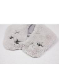 NOOKI Star Fur Collar- Oyster
