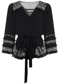 PK BERRY Mae Embroidered Top - Black