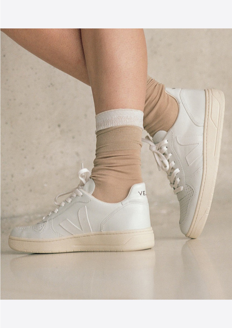 VEJA V-10 Leather Trainers - Extra White main image