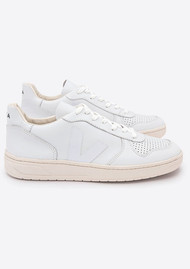 VEJA V-10 Leather Trainers - Extra White
