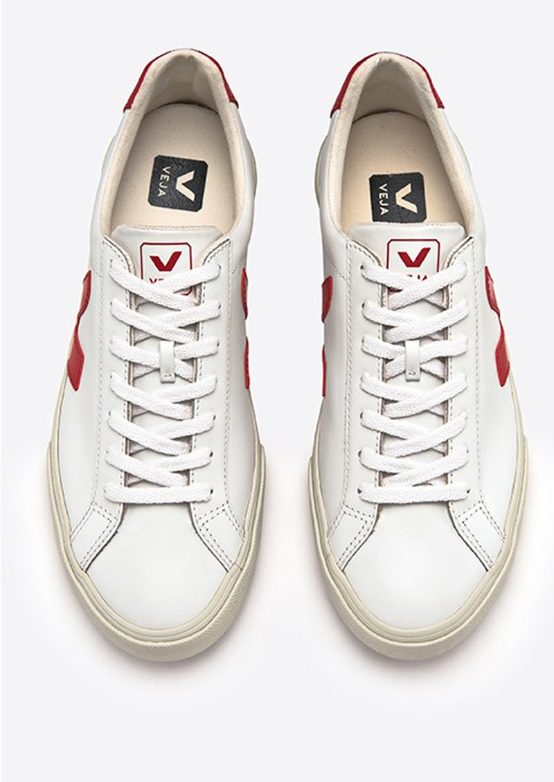 VEJA Esplar Leather Trainers - Extra White & Pekin main image
