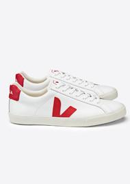 VEJA Esplar Leather Trainers - Extra White & Pekin