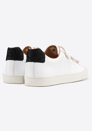 VEJA Esplar 3 Lock Leather Trainers - Extra White & Black Tilapia