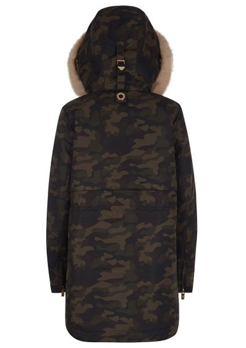 PARKA LONDON Caversham Faux Fur Lined Parka - Camo main image