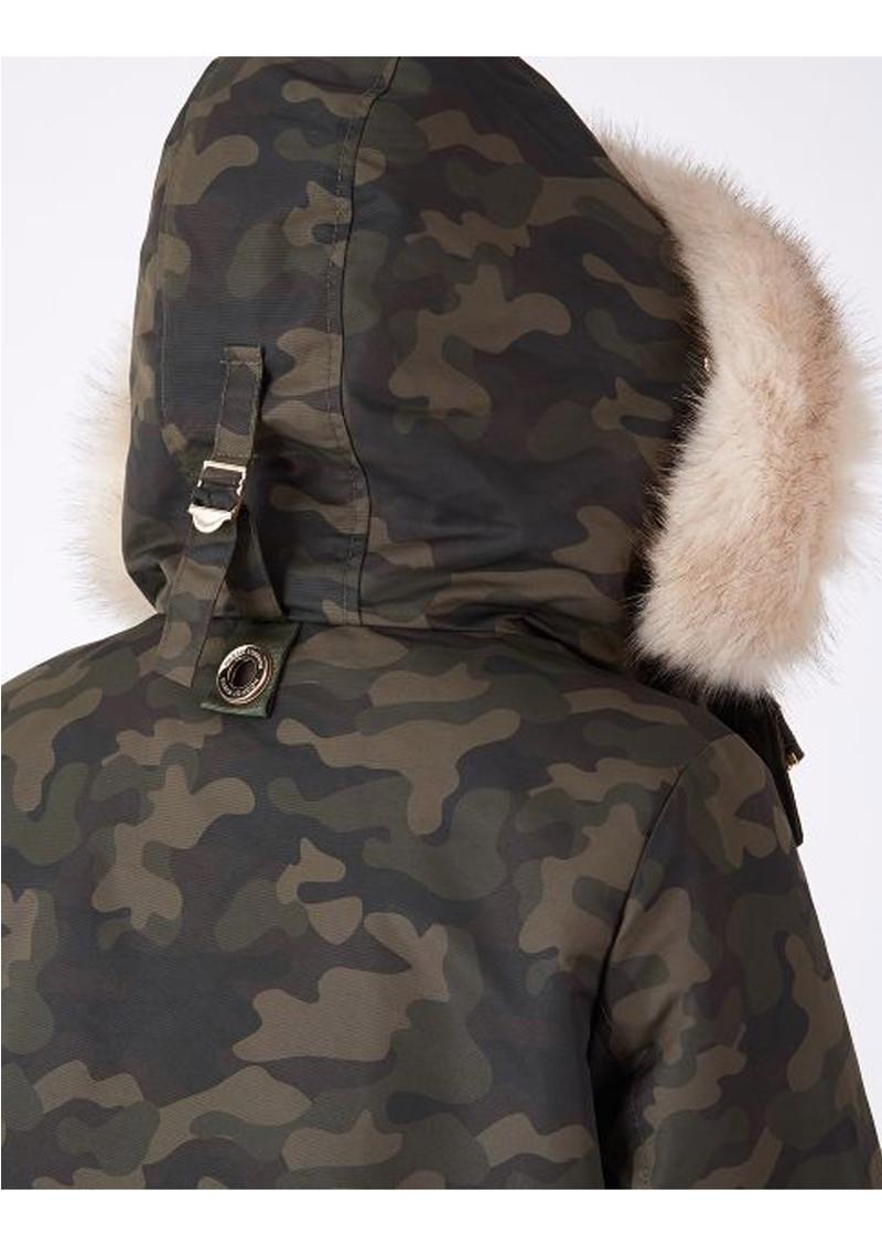 PARKA LONDON Caversham Faux Fur Lined Parka - Camo main image
