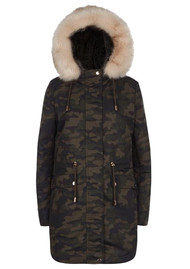PARKA LONDON Caversham Faux Fur Lined Parka - Camo