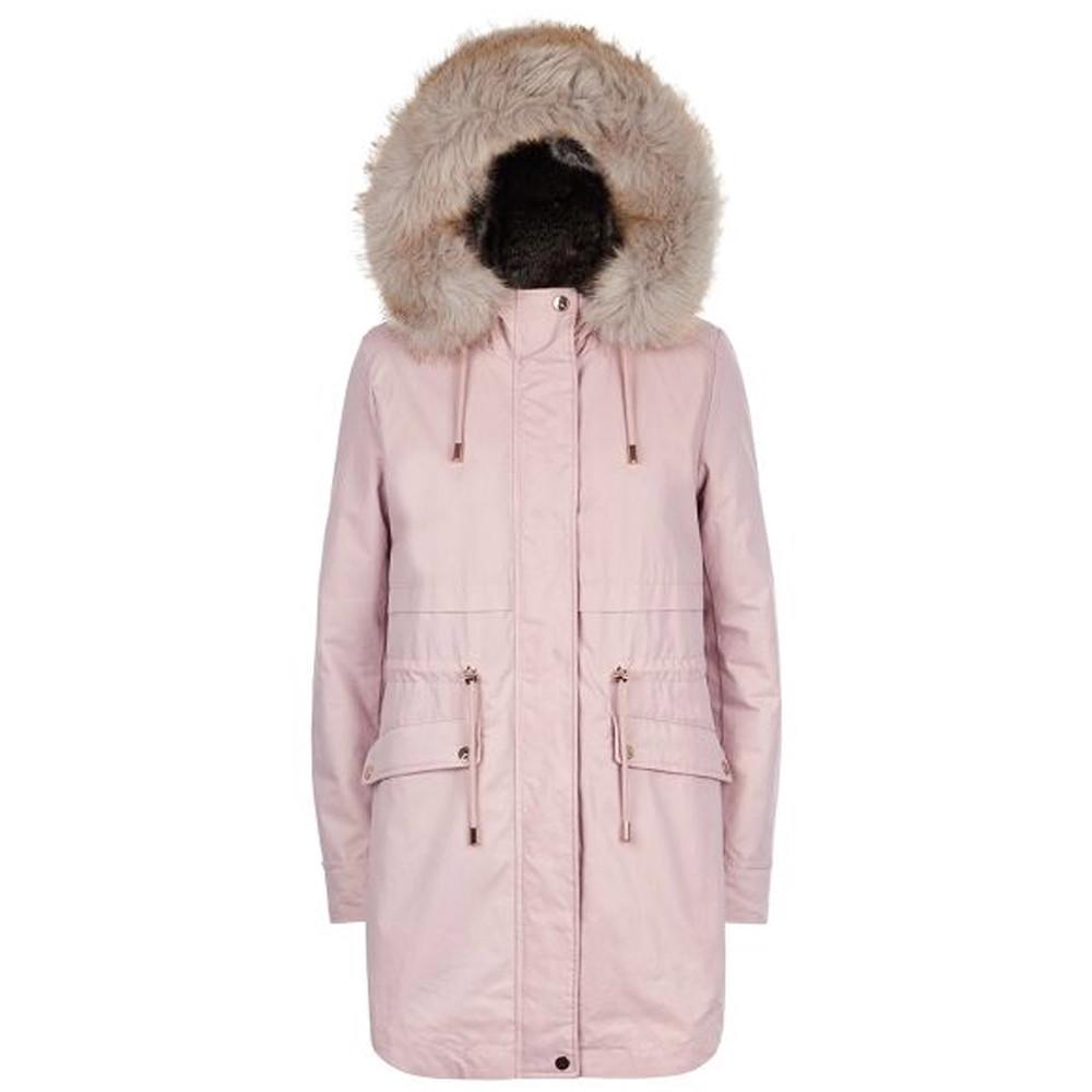 Caversham Faux Fur Lined Parka - Soft Pink