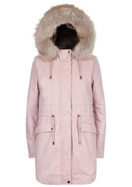 PARKA LONDON Caversham Faux Fur Lined Parka - Soft Pink