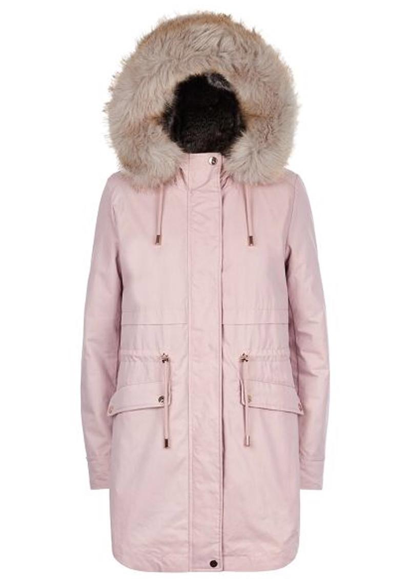 PARKA LONDON Caversham Faux Fur Lined Parka - Soft Pink main image