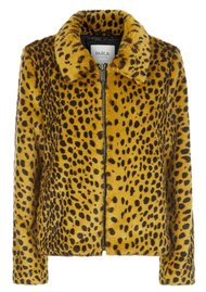PARKA LONDON Balina Faux Fur Jacket - Golden Leopard