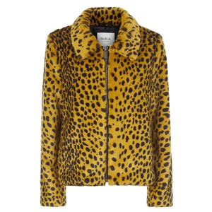Balina Faux Fur Jacket - Golden Leopard