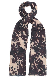 Lily and Lionel Camo Wool Mix Scarf - Burgundy