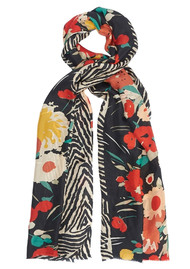 Lily and Lionel Wild Flower Silk Scarf - Multi