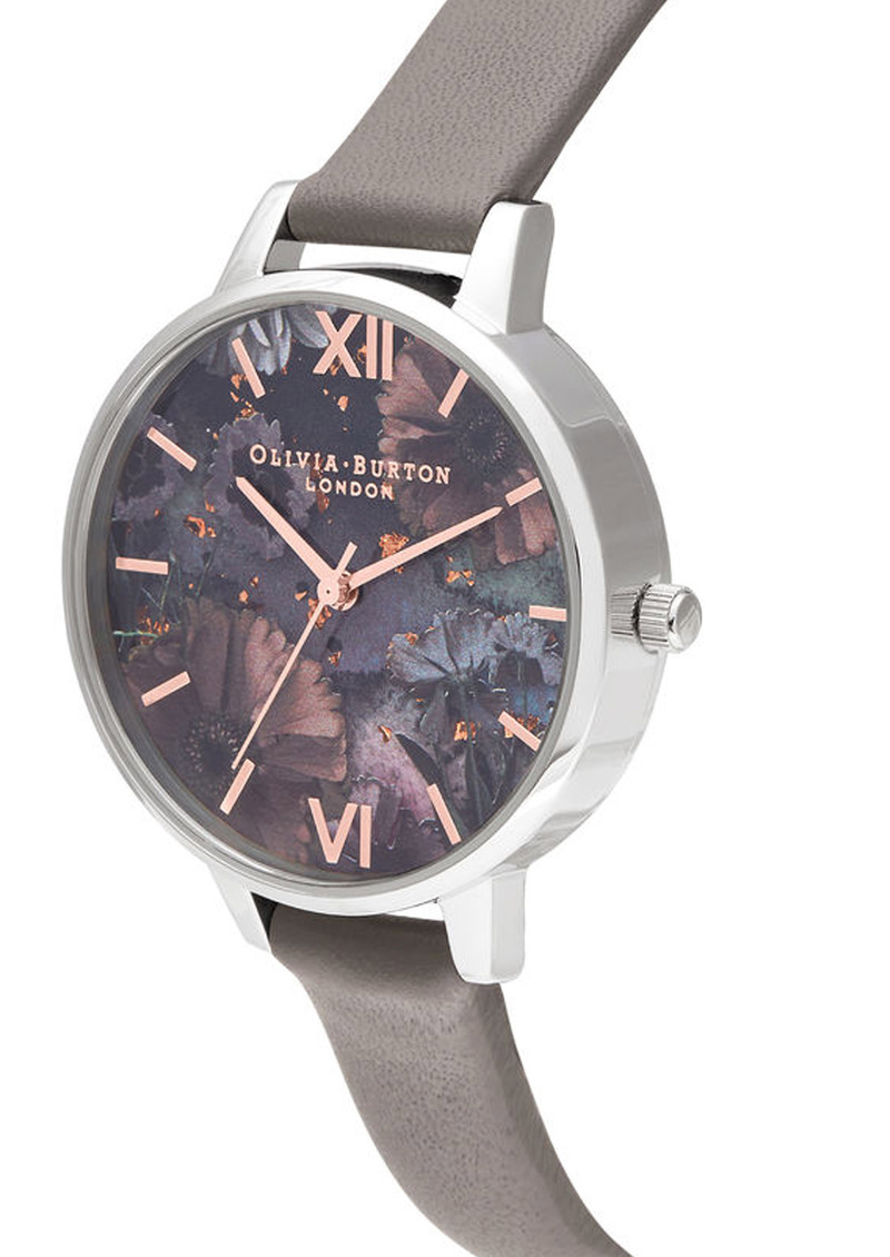 Olivia Burton Celestial Demi Dial Watch - Grey, Rose Gold & Silver main image