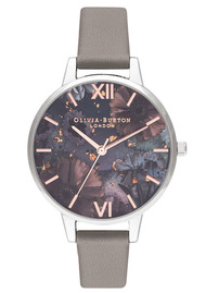 Olivia Burton Celestial Demi Dial Watch - Grey, Rose Gold & Silver