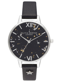 Olivia Burton Celestial Star Demi Dial Watch - Black & Silver