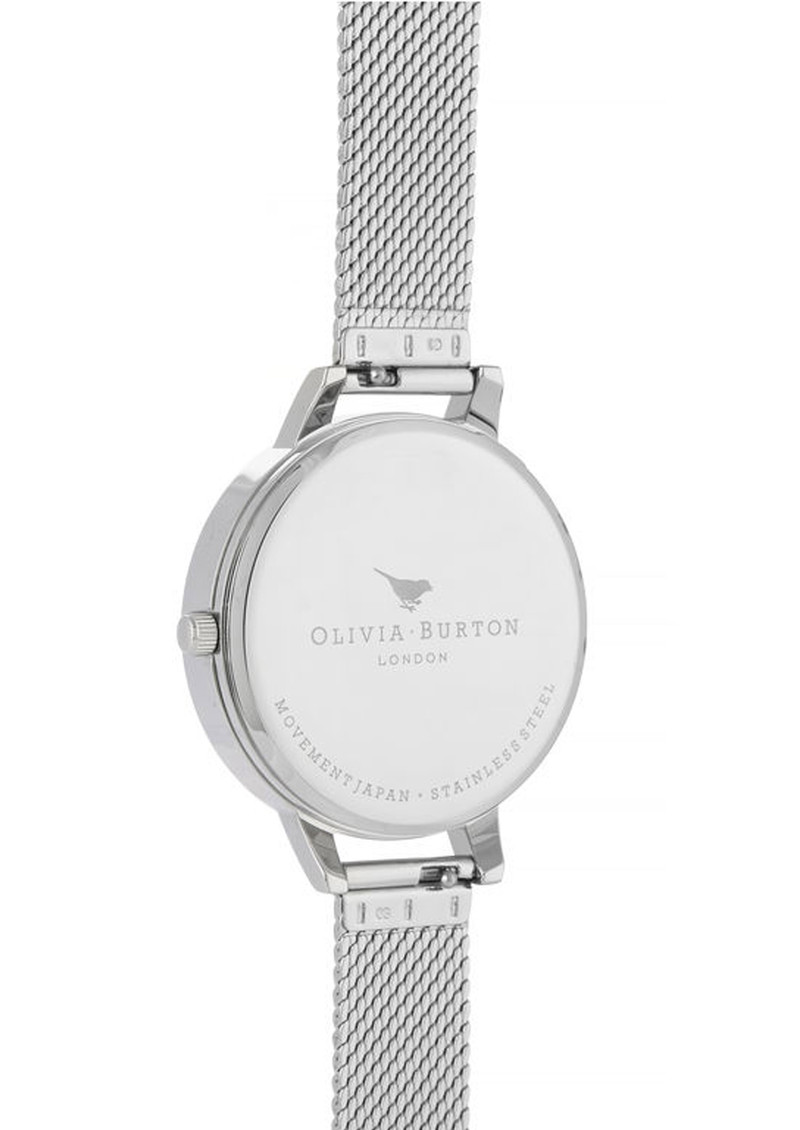Celestial Demi Dial Boucle Mesh Watch - Silver main image