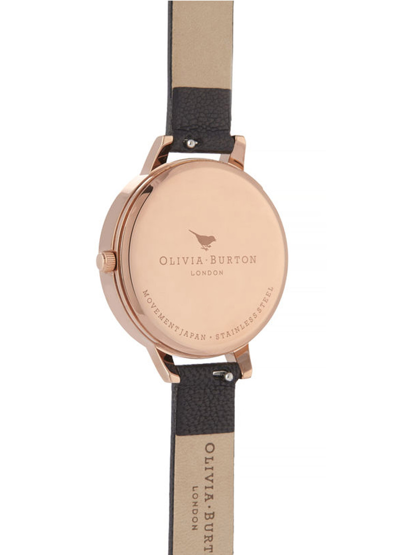 Olivia Burton Celestial Demi Dial Watch - Black & Rose Gold main image