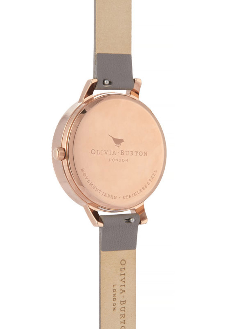 Celestial 3D Bee Demi Dial Watch - London Grey & Rose Gold main image