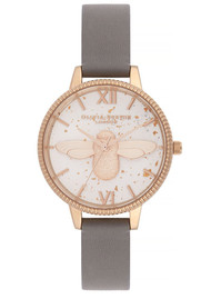 Olivia Burton Celestial 3D Bee Demi Dial Watch - London Grey & Rose Gold