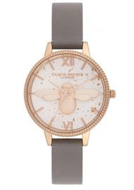 Olivia Burton Celestial 3D Bee Demi Dial Watch - London Grey & Rose Gold
