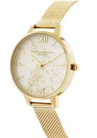 Olivia Burton Celestial Demi Dial Boucle Mesh Watch - Gold