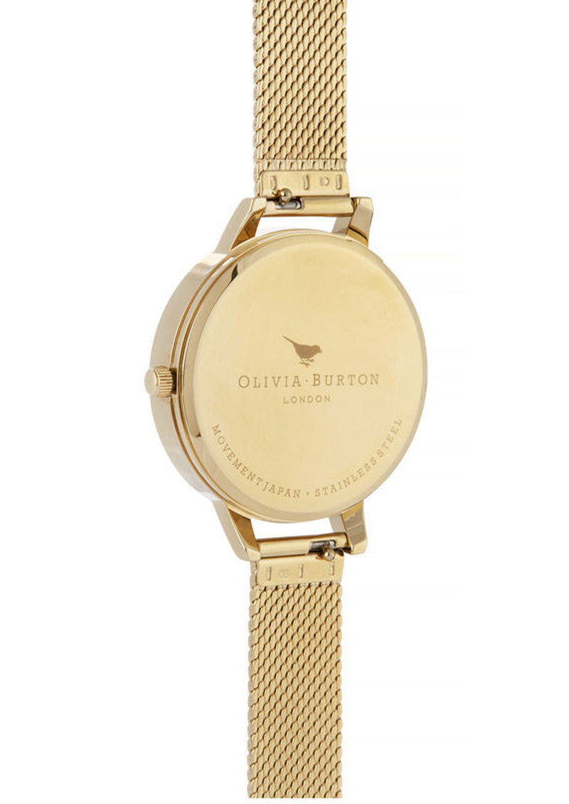 Olivia Burton Celestial Demi Dial Boucle Mesh Watch - Gold main image