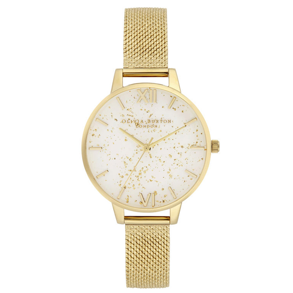 Celestial Demi Dial Boucle Mesh Watch - Gold