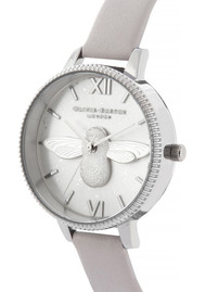 Olivia Burton Celestial 3D Bee Demi Dial Watch - Grey Lilac & Silver