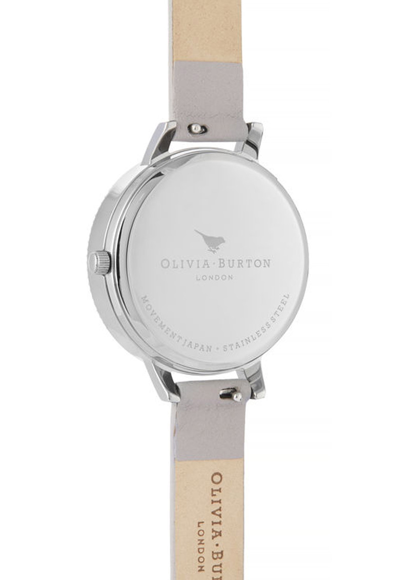 Olivia Burton Celestial 3D Bee Demi Dial Watch - Grey Lilac & Silver main image