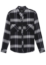 Rails Leo Shirt - Black Ash White