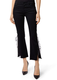 J Brand Selena Mid Rise Cropped Boot Cut Jeans - Evening Haze