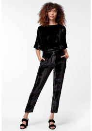 J Brand Marlee Velvet Pants - Black