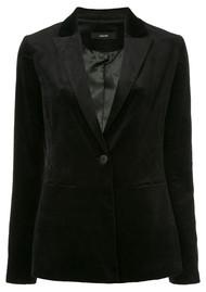J Brand Denise Velveteen Blazer - Black