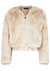 J Brand Ashbey Faux Fur Jacket - Champagne