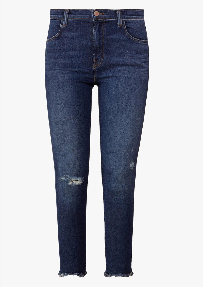 J Brand Alana High Rise Cropped Super Skinny Jeans - Persuade main image