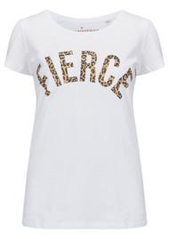 UNIVERSE OF US Fierce T-Shirt - White & Leopard