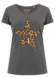 UNIVERSE OF US Star Leopard T-Shirt - Anthracite