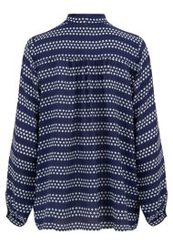 Mercy Delta Blaise Safari Blouse - Bretton True Blue