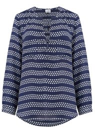 Mercy Delta Windsor Silk Star Blouse - True Blue