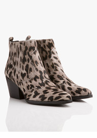 Sam Edelman Winona Leopard Boot - Grey
