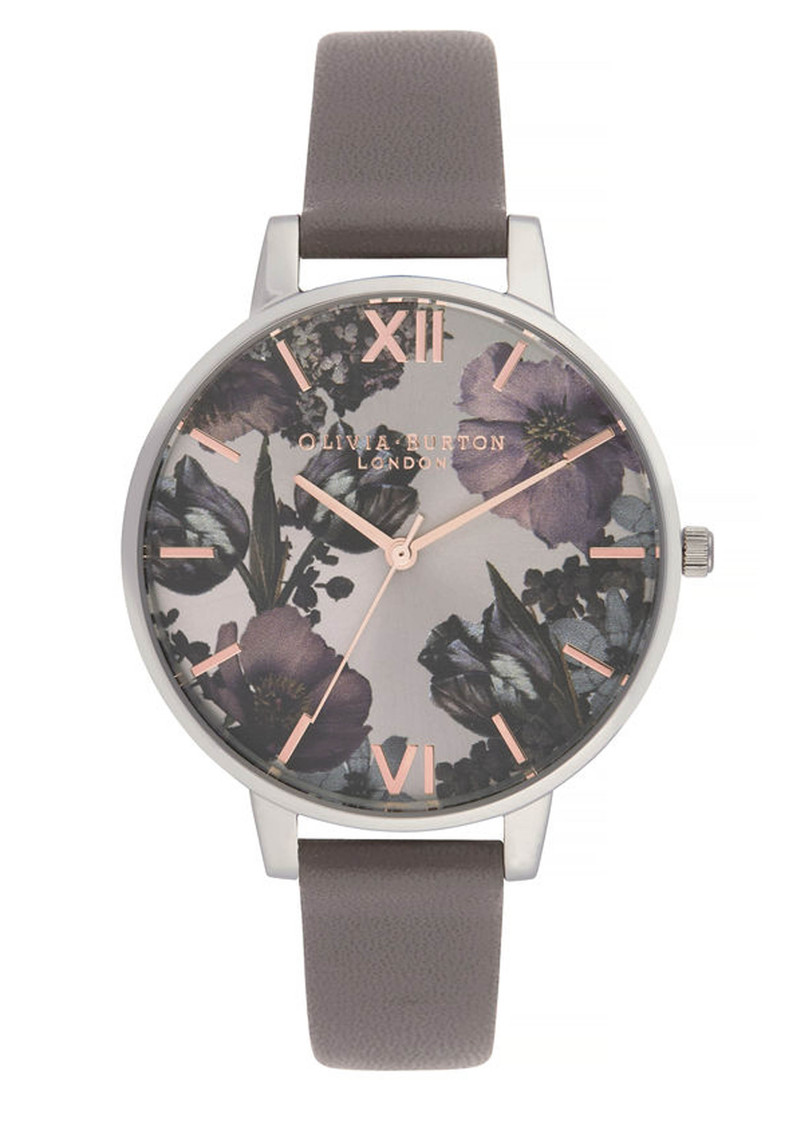 Twilight Sunray Big Dial Watch - London Grey, Rose Gold & Silver main image