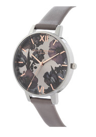 Olivia Burton Twilight Sunray Big Dial Watch - London Grey, Rose Gold & Silver