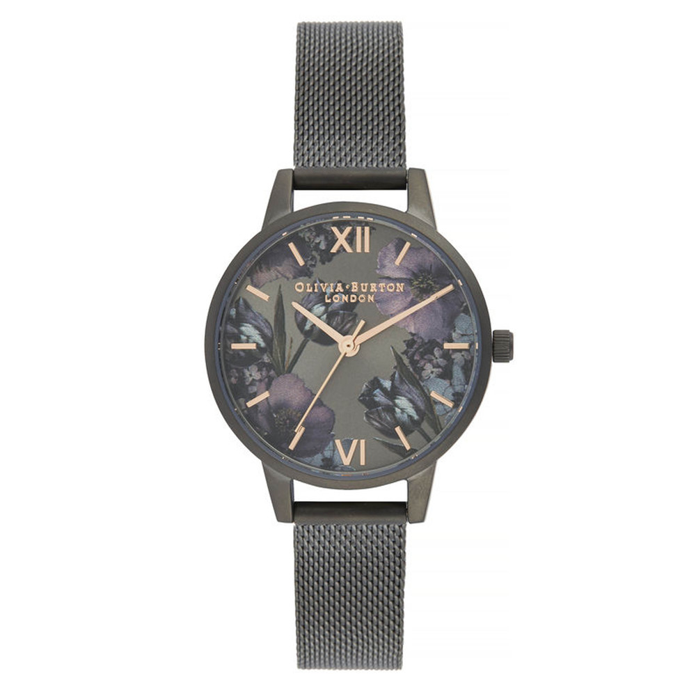 Twilight Midi Dial Mesh Watch - Gunmetal Mesh