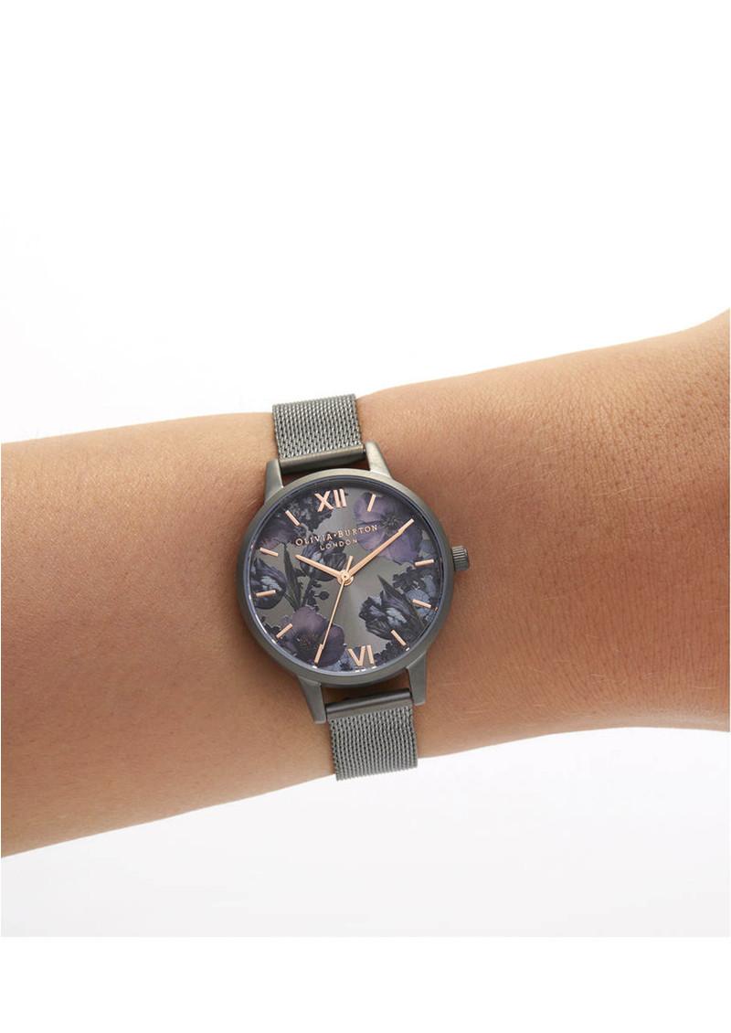 Olivia Burton Twilight Midi Dial Mesh Watch - Gunmetal Mesh  main image