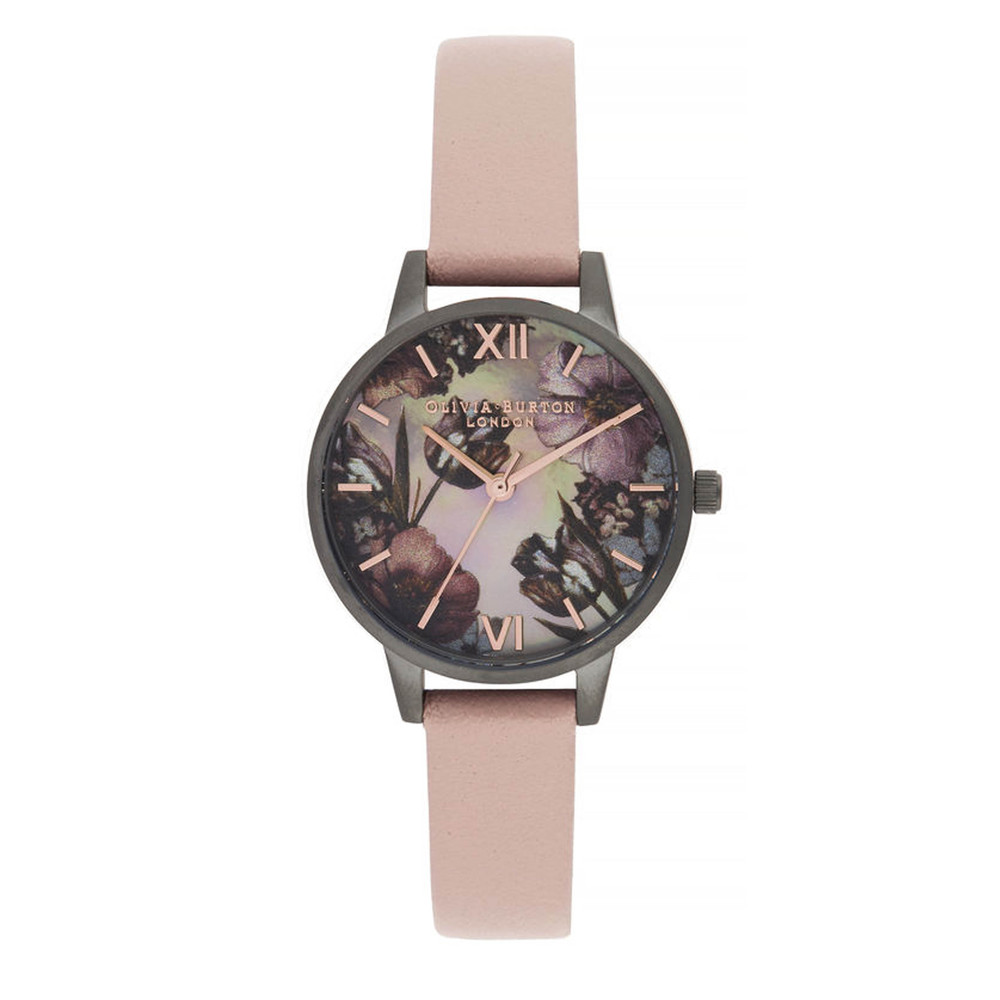 Twilight Midi Dial Mother Of Pearl Watch - Grey, Pink & Gunmetal